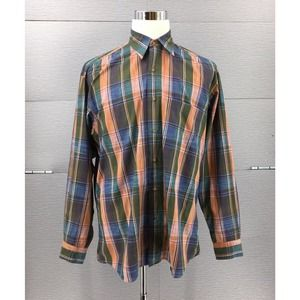 Ike Behar Men's Check Cotton Casual Shirt Large